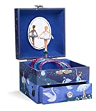 Jewelkeeper Musical Jewellery Box with Spinning Unicorn, Glitter Rainbow and Stars Design with Pull-out Drawer, The Unicorn Tune