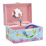 Jewelkeeper Musical Mermaid Jewellery Box, Underwater Design with Narwhal Design, Over the Waves Tune