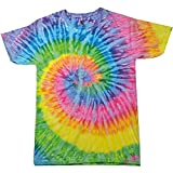 Colortone Womens/Ladies Rainbow Tie-Dye Short Sleeve Heavyweight T-Shirt (2XL) (Saturn)