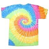 Colortone Womens/Ladies Rainbow Tie-Dye Short Sleeve Heavyweight T-Shirt (2XL) (Eternity)